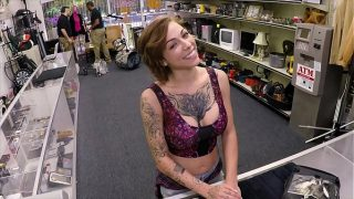 XXX PAWN – Tattooed Babe Harlow Harrison Gives Pawnshop Owner A Hard Time